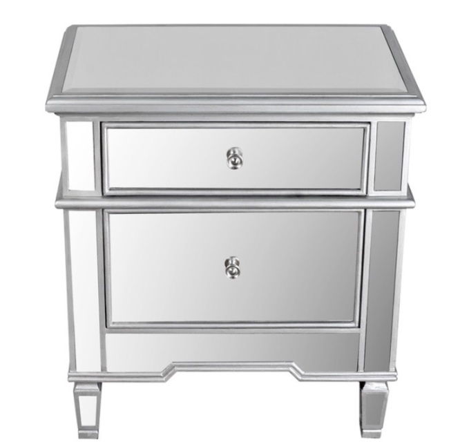 Hayworth Mirrored Night Stand