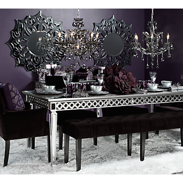 Sophie mirrored dining table watchthetrailerfo