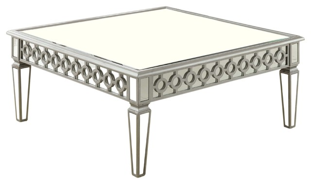 Sophie Mirrored Square Coffee Table