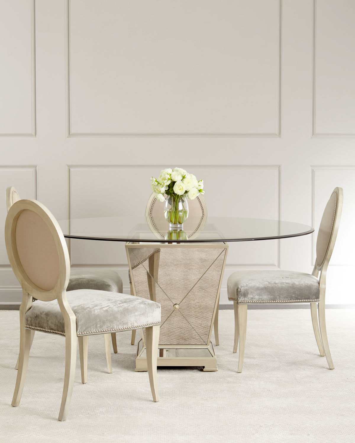 borghese mirrored dining table